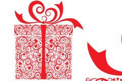 情人节礼物包装矢量素材