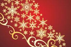 一款精美圣诞节花纹矢量素材