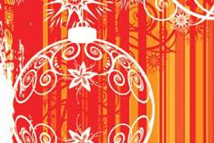 透明圣诞挂球矢量素材