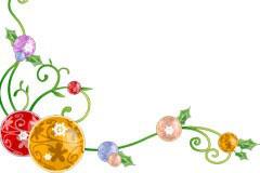 圣诞节精美挂球花边AI矢量素材