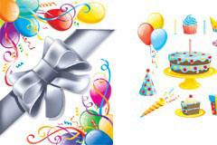 五款生日庆典EPS矢量素材