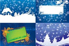 四款圣诞节插画矢量素材