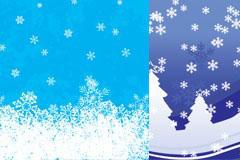五款漂亮雪景AI矢量素材