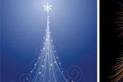 礼炮和圣诞树EPS矢量素材