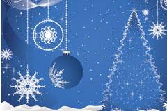 两款圣诞节插画EPS矢量素材
