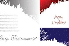 圣诞节雪景背景图片矢量素材