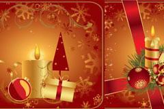 3款圣诞节蜡烛矢量素材