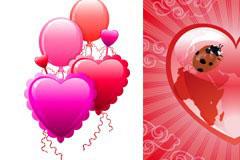 情人节心形气球EPS矢量素材