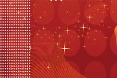 摇曳的红烛和梦幻背景矢量素材