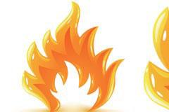 火焰潮流元素矢量素材