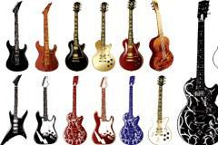 多款精致的乐器矢量素材