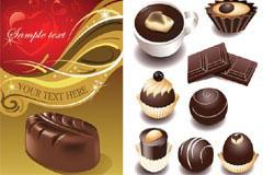 各式各样诱人的巧克力矢量素材