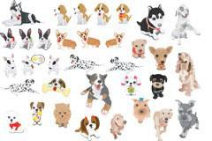 各种可爱的宠物狗矢量素材