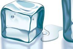 即将融化的冰块矢量素材