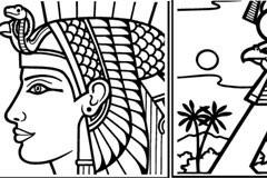 4款埃及著名建筑线描矢量素材