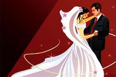 2款婚礼主题插画矢量素材