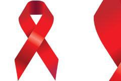 AIDS艾滋病标志矢量素材