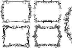6款欧式风格实用花边矢量素材