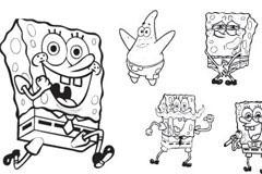 多款可爱的Spongebob卡通形象矢量素材