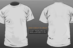 正反面短袖T-shirt矢量素材