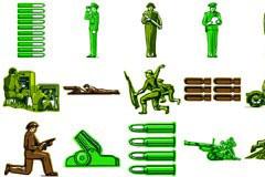 一款军事主题人物插画矢量素材