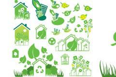 多款绿色环保题材矢量素材