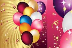 五彩缤纷的节日气球矢量素材