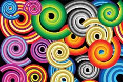 缤纷彩色旋转螺纹背景矢量素材