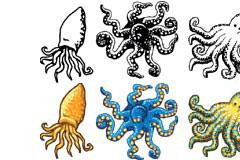 章鱼矢量素材