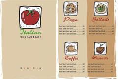 2款西餐厅VI模板矢量素材