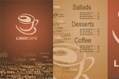 1款咖啡厅VI模板矢量素材