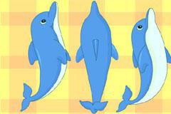 正在跳跃的可爱小海豚矢量素材