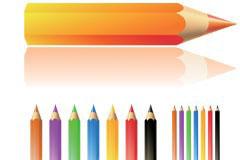 铅笔和本子矢量素材