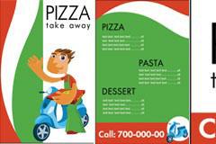 Pizza店广告宣传单模板矢量素材
