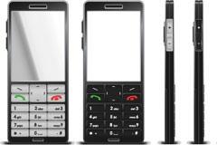 一款手机平面设计效果图矢量素材