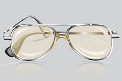写实风格眼镜矢量素材