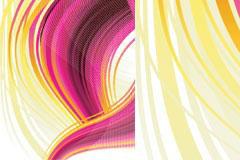 一款很有吸引力的幻彩动感线条背景矢量素材