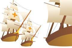 一款帆船矢量素材