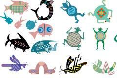 多款抽象动物矢量素材