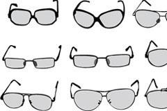 各种眼镜矢量素材