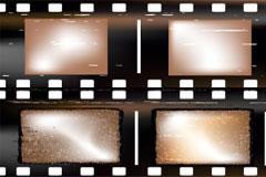 怀旧风格电影胶片矢量素材