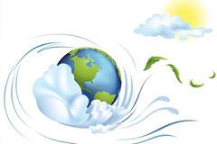 动感地球插画矢量素材