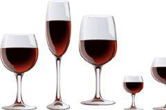 各种形状的红酒酒杯矢量素材