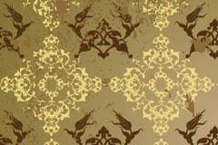 古典风格潮流花纹背景矢量素材