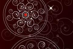 中国风圆形古典花纹背景矢量素材