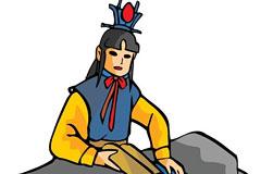 中华传统人物之贾宝玉卡通矢量素材