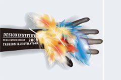 超酷彩色羽毛矢量素材