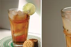 一杯清凉的冰柠檬茶矢量素材