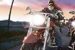超酷的摩托车赛车手矢量素材