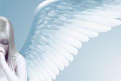 一款AI格式的美丽天使矢量素材